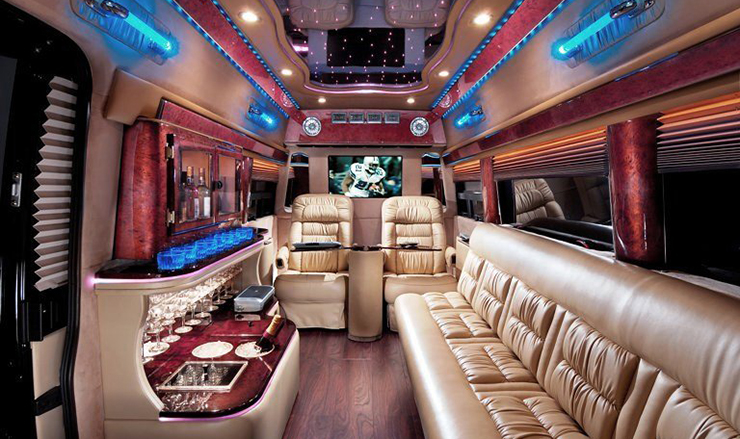 Mercedes Sprinter Limousine 9 Passenger Napa Valley Tour